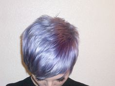 Silver Violet hair and Pixie Cut
