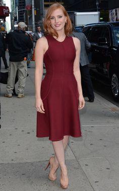 Jessica Chastain in Michael Kors Collection  - Best dressed celebrities this week: 19 October | Harper's Bazaar