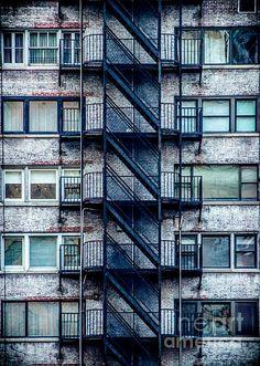 Stairs and Windows - photograph by James Aiken #jamesaiken #urbanlife #fireescape via @jamesaiken09