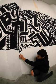 Urban Calligraphy16 - Blaqk is the name of the collaboration between Papagrigoriou Greg and Simek, two artists living in Athens