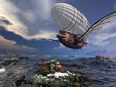 Картинки корабли дирижабли