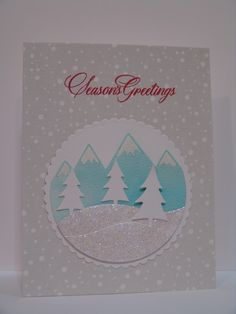 IC515 Snowy Mountains by suen - Cards and Paper Crafts at Splitcoaststampers