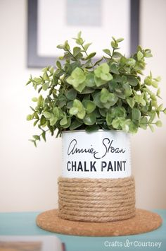 Upcycle paint can makeover: Annie Sloan Chalk Paint Ideas - Crafts by Courtney