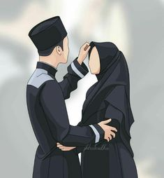 Cute Muslim Couples, Muslim Girls, Cute Couples, Love Cartoon Couple, Cute Couple Art, Cover Wattpad, Muslim Pictures, Muslim Couple Photography, Cute Love Pictures