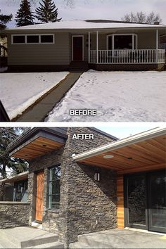 Renu - Exterior home renovation in the Calgary community of St. Andrews Heights www.channelcustombuilders.com