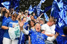 The title party is in full swing at the King Power Stadium, where Leicester City are in cruise control against Everton. Players, staff and supporters have been celebrating the Foxes'. Leicester City Football, King Power, Everton, Premier League, How To Memorize Things, The Incredibles, Foxes, Celebrities, People