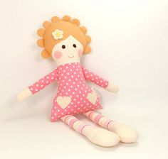 handmade rag doll camille cloth doll first doll by CleoAndPoppy