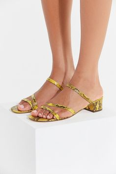 971560f05c3 UO Claudia Faux Snakeskin Sandal