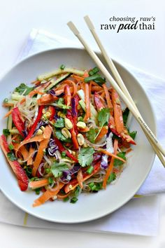 Dinner is served with this incrediblly tasty Raw Pad Thai from the cookbook all-star Choosing Raw by...