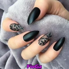 Nails for prom 40 Most Trendy And Attractive Night Black Nails Art (acrylic Nails, Matte Nails). 40 Most Trendy And Attractive Night Black Nails Art (acrylic Nails, Matte Nails) For Prom - Nail Design ♥♥ 𝕭𝖑𝖆𝖈𝖐 𝖓𝖆𝖎𝖑𝖘 𝖆𝖗𝖙 ♥♥ ♥ ♥ ♥ ♥ Matte Black Nails, Black Nail Art, Fall Nail Art Designs, Black Nail Designs, Beautiful Nail Art, Gorgeous Nails, Beautiful Pictures, Cute Acrylic Nails, Gel Nails