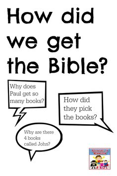 How did we get the Bible lesson for elementary kids
