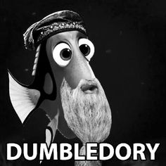 Just keep swimming, Harry. #HarryPotter #Disney #FindingNemo #Dory #Dumbledore