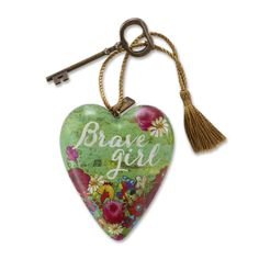 Art Hearts are the newest addition to Sweet Tooth. These limited edition sculpted hearts are individually designed by different artists. The artist's name appears on the back side of each Art Heart. Art Hearts can hang by their gold string or sit standing up with as the included key doubles as a stand.