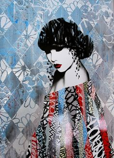 Rouge II, Hush. Street Art. Limited edition print. This work will look perfect in any urban interior.