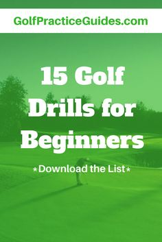 Here are 15 of the best golf drills you can practice to improve your putting, chipping, and short game skills. Start practicing these drills today. Golf With Friends, Golf Chipping Tips, Golf Putting Tips, Golf Practice, Golf Videos, Golf Instruction, Golf Exercises, Golf Tips For Beginners, Golf Lessons