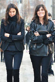 Fashion Editor street style parade in Paris - 2012