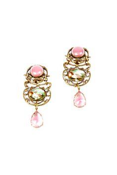 Two-Tone Antiqued Earrings