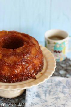 SABOREANDO EN COLORES: Bundt Cake de manzanas caramelizadas