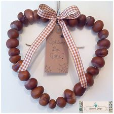 Conker Heart Shaped Wreath - Natural Spider Repellent - Lancashire Conkers!
