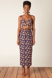 saia clochard cropped floral