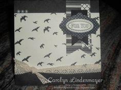 Carolyn's Card Creations: For the Birds Modern Medley card