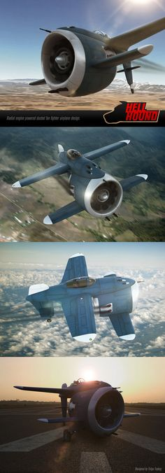 Hi, I was working on a ducted fan R/C model airplane and suddenly I decided to design an aircraft around a ducted fan which is powered by a radial engine. Some of the HDRI and backplates are from h...