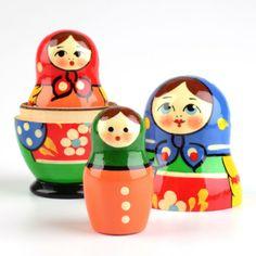 Colorful 3 Piece Matryoshka | Nesting dolls | The Russian Store $21.99