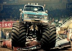 """Lifted Trucks Bigger Than Godzilla, They Are Cooler Than You Thought! If you' were to define the phrase """"truck"""" in one word, what might it be? Monster Truck Madness, Big Monster Trucks, Monster Car, Monster Truck Party, Lifted Ford Trucks, 4x4 Trucks, Chevrolet Trucks, Diesel Trucks, Cool Trucks"""