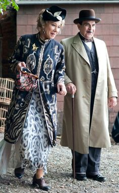 Agatha Christie. Hercule Poirot and Ariadne Oliver in, Dead man's Folly.