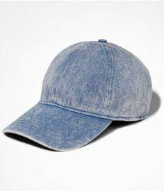 ACID WASHED DENIM BASEBALL HAT - LIGHT | Express