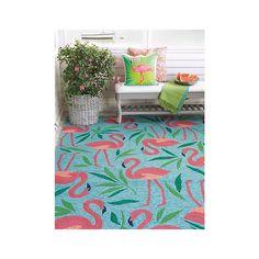 Company C Fancy Flamingo Aqua Area Rug & Reviews | Wayfair