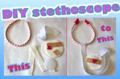 DIY felt stethoscope tutorial Dr McStuffins