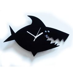 Martin the Shark laser cut acrylic clock (available in black, blue, white, green, pink, orange or yellow). £24.95, via Etsy.
