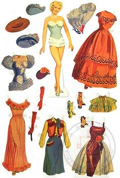 You can dress Betty Grable in 5 beautiful costumes from her classic Hollywood movies! Our cute and high quality Betty paper doll stands 10 inches tall. The full color figure and costumes are die-cut thick paper and ready for play. Famous for her famous World War II pin-up girl photo, Betty Grable, was the #1 Hollywood box office star of the 1940's.
