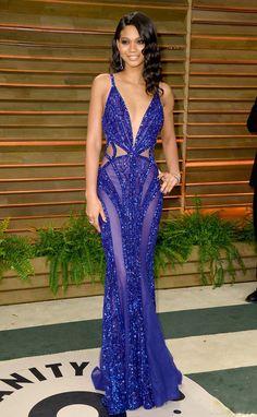 Chanel Iman in Zuhair Murad Couture- Vanity Fair Oscar Party
