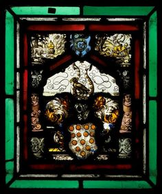 Réunion des Musées Nationaux-Grand Palais - Musée d'Ecouen, vitraux- Panneau d'armoiries aux armes des Von Bülow- N° d'inventaire: DS2051. Suisse (pays d'origine) vers 1570-1580. Acq. Cluny.
