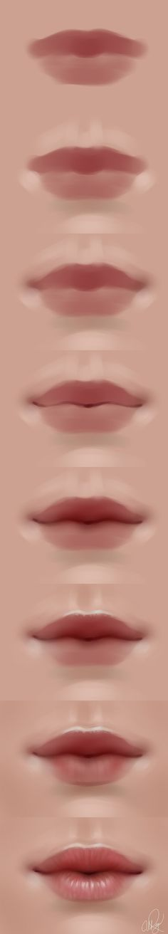 Delineate Your Lips - lips walkthrough by adelenta. - How to draw lips correctly? The first thing to keep in mind is the shape of your lips: if they are thin or thick and if you have the M (or heart) pronounced or barely suggested. Painting Tutorial, Art Lessons, Digital Art Tutorial, Art Instructions, Drawings, Drawing Tutorial, Digital Painting Tutorials, Digital Painting, Lips Drawing