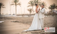 Bride and groom dancing at the beach. Just Married! Marbella, Costa del Sol, Spain © Dougie Farrelly | Silverscreen.ie | F108-BL01 Just Married, Getting Married, Video Photography, Wedding Photography, Dancing, Spain, Groom, Bride, Wedding Dresses
