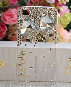 Crystal Flower for 4G 4S iphone case cover