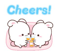 LINE Official Stickers - Happy Bunny fulfilling daily life Example with GIF Animation Love Cartoon Couple, Cute Love Cartoons, Funny Bunnies, Cute Bunny, Snoopy New Year, Cute Kawaii Animals, Cute Love Gif, Little Panda, Tao