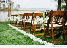 Ideas para decorar una boda en el jardín, pasillo hacia el altar