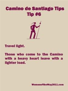 Camino Tip No. 6: Travel light | Women of the Way