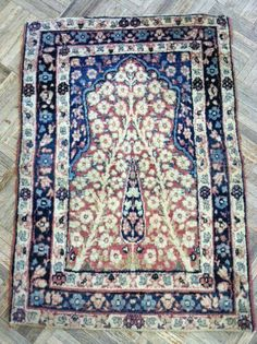 There is nothing more precious than a tiny Lavar Kerman prayer rug!