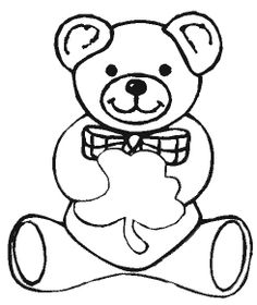Teddy Bear With Apple Coloring Pages