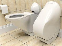 驚くほどデザイン性の高いトイレ!蓋もなくて、50%の節水も!