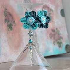 Flowers recycled earings by Santia