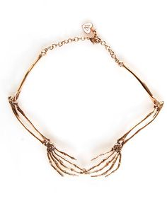 Wildfox is now at LuLu*s! Wildfox Bone to Pick Rose Gold Collar Necklace