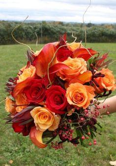 Autumn wedding bouquets