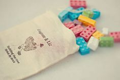 instead of wedding mints have dishes with brick candy.