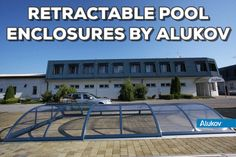 Retractable pool enclosure CORSO by Alukov - get best quality for a great price Pool Enclosures, Outdoor Decor, Swimming Pool Decks